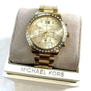 Michael Kors 6187 Brinkley Gold Tone Womens Watch